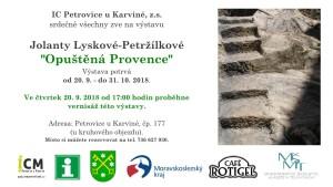 pozvánka Opuštěná Provence